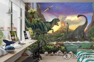 3D Фотообои «Величественные динозавры»