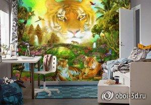 3D Фотообои «Тигриная долина»