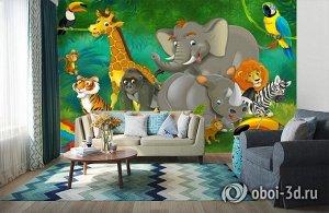 3D Фотообои «Тропическая сказка»
