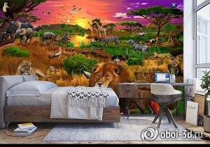 3D Фотообои «Сказочная саванна»