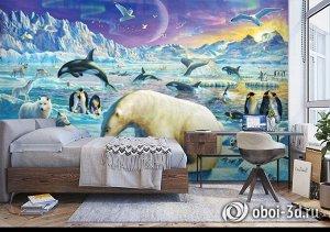 3D Фотообои «Обитатели крайнего севера»