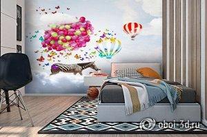 3D Фотообои  «Фантазии зебры»