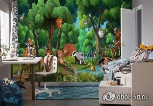 3D Фотообои  «Лесное семейство»