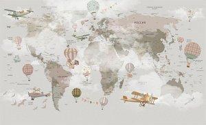 Фотообои Детская туманная карта