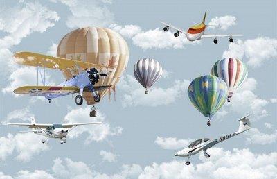 3D Фотообои по Вашим индивидуальным размерам!💯 (12.04.2021)  — 3D Фотообои. Детские. Воздушные шары — Детям и подросткам