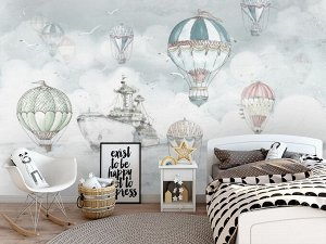 Фотообои «Акварель с воздушными шарами»