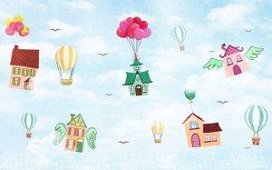 Фотообои «Летающие дома»