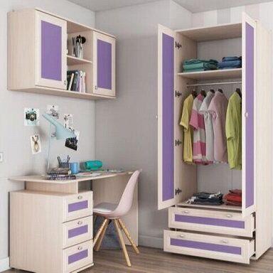 Новая, невероятно стильная мебельная коллекция АРТ — Мебель для детской  БРИЗ (фиолетовый) — Гарнитуры