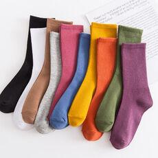 Классические однотонные носки для женщин