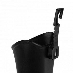 Контейнер под мусор в салон автомобиля, черный
