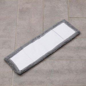 Насадка для плоской швабры, 4313 см, 60 гр, цвет серый