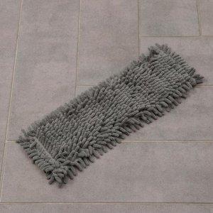 Насадка для плоской швабры Доляна, 41?12 см, микрофибра букля, 80 гр, цвет серый