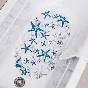 Коврик для ванны Доляна «Морские звёзды», 38?68 см