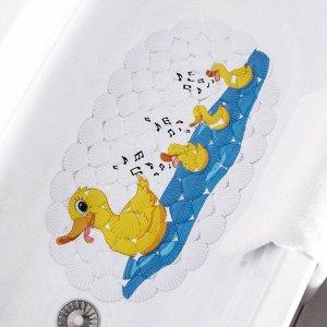 Коврик для ванны Доляна «Мама утка», 38?68 см