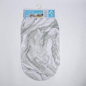 Коврик для ванны Доляна «Мрамор», 38?68 см, цвет МИКС