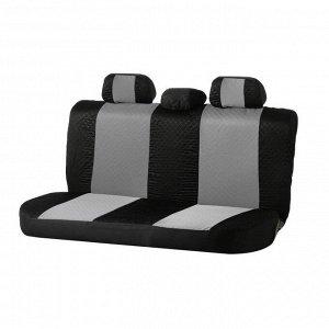 Авточехлы TORSO Premium универсальные, 9 предметов, чёрно-серый AV-8