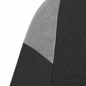 Авточехлы TORSO Premium универсальные, 9 предметов, чёрно-серый AV-37