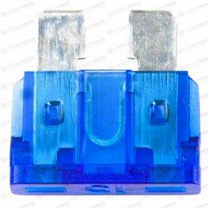 Предохранитель автомобильный Masuma, флажковый, стандартный (ATO S1035-2/FT), синий, 15А, 32В, комплект 100 шт, арт. FS-035 (стоимость за упаковку 100 шт)
