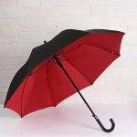 Зонт - трость полуавтоматический «Двойная ткань», 8 спиц, R = 55 см, цвет МИКС