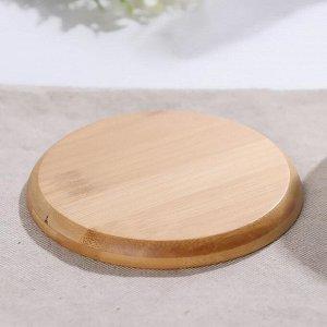 Чайная пара «Эстет», чашка 220 мл, деревянное блюдце