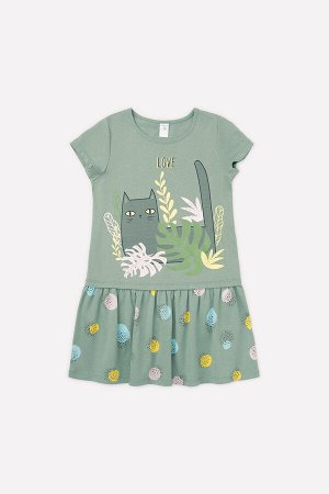 Платье(Весна-Лето)+girls (милитари, цветные шарики к1266)