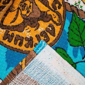 Килт для сауны муж (65х150), Банный день синий ваф.полотно 160г/м, хл100%