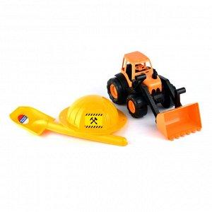 Трактор c каской и лопатой 15-10593