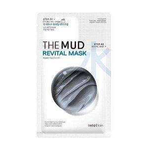 Питательная двухэтапная маска для лица +крем для век IntoSkin The Mud Revital Mask,1.5 мл + 23 мл