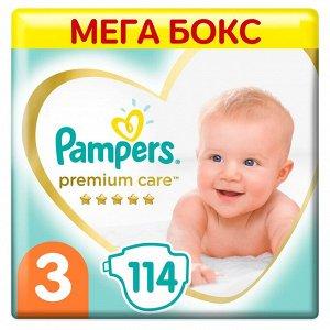 PAMPERS Подгузники Premium Care Midi (6-10 кг) Мега Упаковка 114
