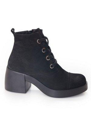 Ботинки Страна производитель: Турция Размер женской обуви x: 36 Полнота обуви: Тип «F» или «Fx» Вид обуви: Ботинки Сезон: Весна/осень Материал верха: Нубук Материал подкладки: Флис Каблук/Подошва: Каб