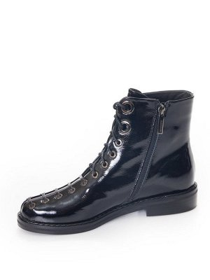 Ботинки Страна производитель: Китай Размер женской обуви x: 35 Полнота обуви: Тип «F» или «Fx» Вид обуви: Ботинки Сезон: Весна/осень Материал верха: Лаковая кожа натуральная Материал подкладки: Байка