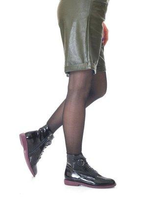 Ботинки Страна производитель: Китай Размер женской обуви x: 36 Полнота обуви: Тип «F» или «Fx» Вид обуви: Ботинки Сезон: Весна/осень Материал верха: Лаковая кожа натуральная Материал подкладки: Тексти