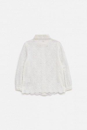 Блузка детская для девочек Bacio белый