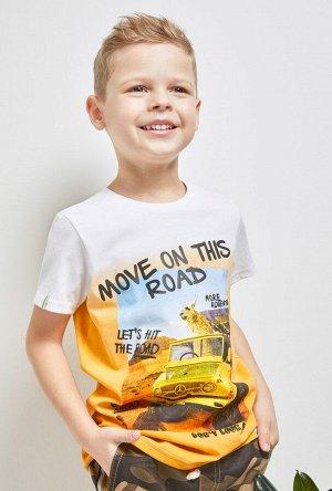 Футболка(Фуфайка) детская для мальчиков Chip белый