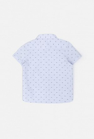 Сорочка верхняя детская для мальчиков Seal синий принт