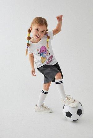 Футболка(Фуфайка) детская для девочек Nexus белый