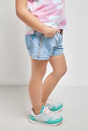 Шорты джинсовые детские для девочек Nisiros голубой