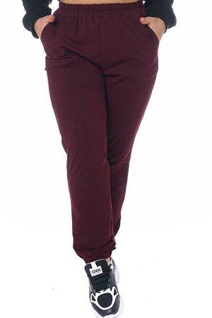 Брюки-4251 Модель брюк: Спортивные; Материал: Трикотаж;   Фасон: Брюки; Параметры модели: Рост 168 см, Размер 54 Брюки спортивные трикотажные бордо Универсальные и невероятно комфортные брюки из мягко
