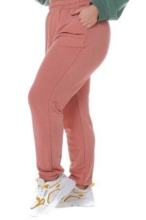 Брюки-4450 Модель брюк: Спортивные; Материал: Трикотаж;   Фасон: Брюки; Параметры модели: Рост 168 см, Размер 54 Брюки спортивные плотные трикотажные персик Универсальные и невероятно комфортные брюки