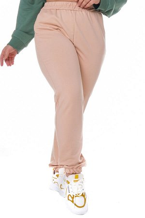 Брюки-4364 Модель брюк: Спортивные; Материал: Трикотаж;   Фасон: Брюки; Параметры модели: Рост 168 см, Размер 54 Брюки спортивные плотные трикотажные бежевые Универсальные и невероятно комфортные брюк