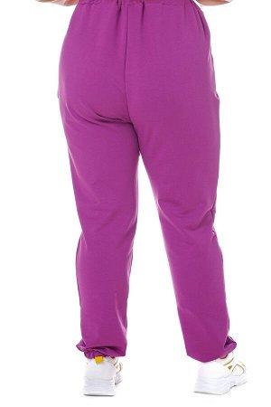 Брюки-4328 Модель брюк: спортивные; Материал: Трикотаж;   Фасон: Брюки; Параметры модели: Рост 168 см, Размер 54 Брюки спортивные трикотажные пурпурные (двухнитка) Универсальные и невероятно комфортны