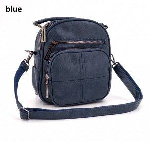 Сумка Компактная сумочка-трансформер из экокожи: два варианта ношения - маленький рюкзак и сумка-кроссбоди. Одно отделение, внутри карман на молнии и карман для мелочей. Снаружи два кармана на молнии,