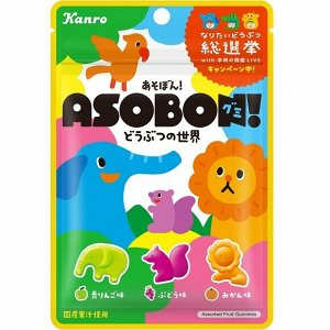 KANRO Asobon - веселые фигурные мармеладки зоопарк
