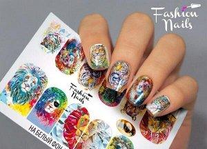 Слайдер FN Слайдер-дизайны Fashion Nails - это фантастически-красивые, яркие авторские дизайны, изготовленные на эластичной пленке с превосходным качеством и четкостью печати, эталонной стойкостью в н