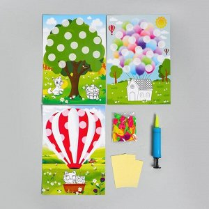 Набор для творчества Аппликации воздушными шариками «Дом, шар, дерево»