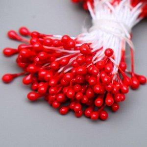 """Тычинки для искусственных цветов """"Капельки """" (набор 130 шт) длина 6 см"""