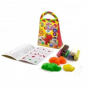 """Тесто для лепки Danko toys """"Master Do"""", 6 цветов, 2 глазки, 3 формочки, картонная коробка"""