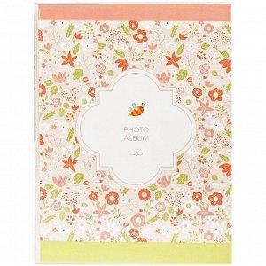 """Фотоальбом 36 фото 10*15см, ArtSpace """"Flower pattern"""", ПП карман, мягкая обложка"""