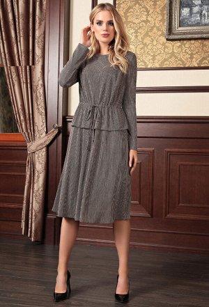 Платье Bazalini 3680 бежево-черный