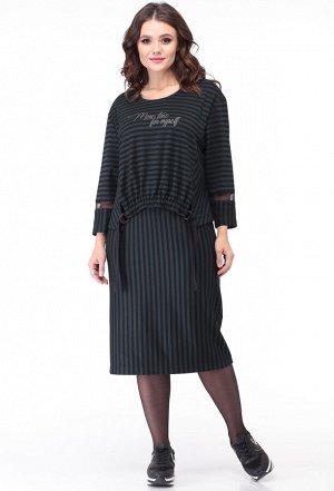 Платье Anastasia Mak 764 зеленый-черный